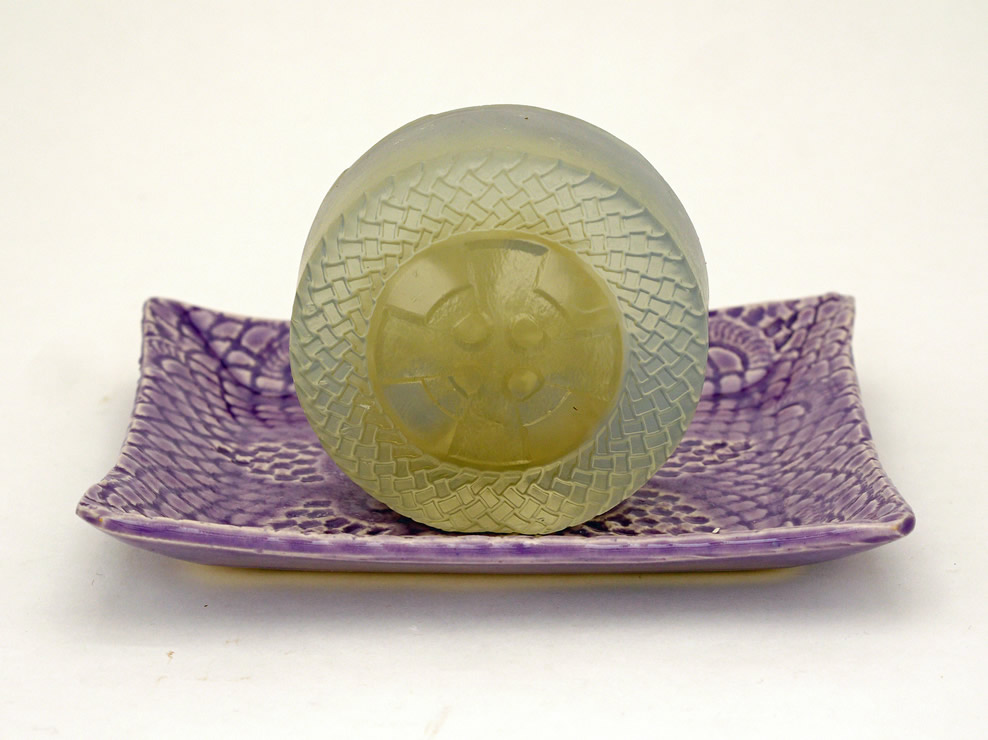 Glycerin Lavender Bar Soap with Loofah
